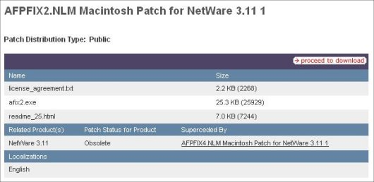 Image of how to view a superceded patch
