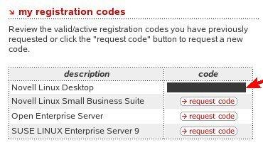 NOVELL: How to Register Novell Linux Desktop 9